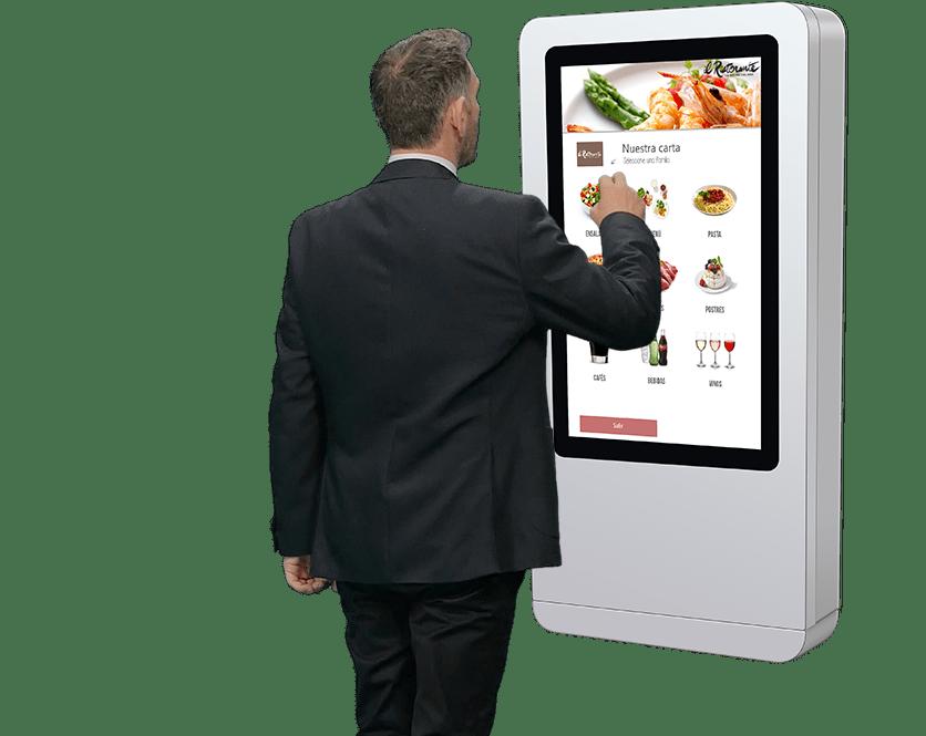 Carta de platos interactiva
