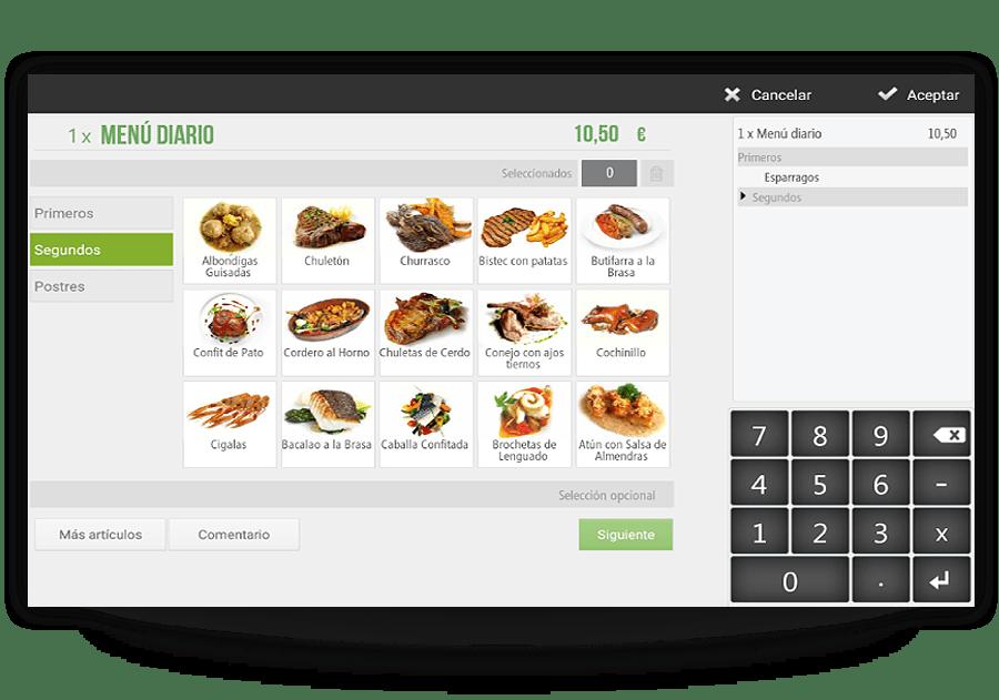 Menú personalizado para restaurantes