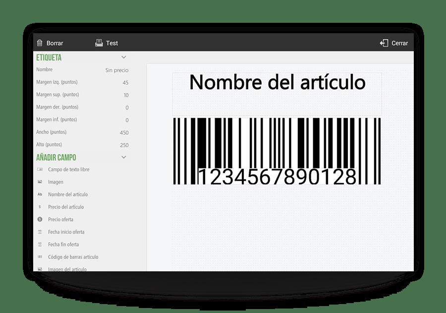 Productos personalizados con códigos de barras