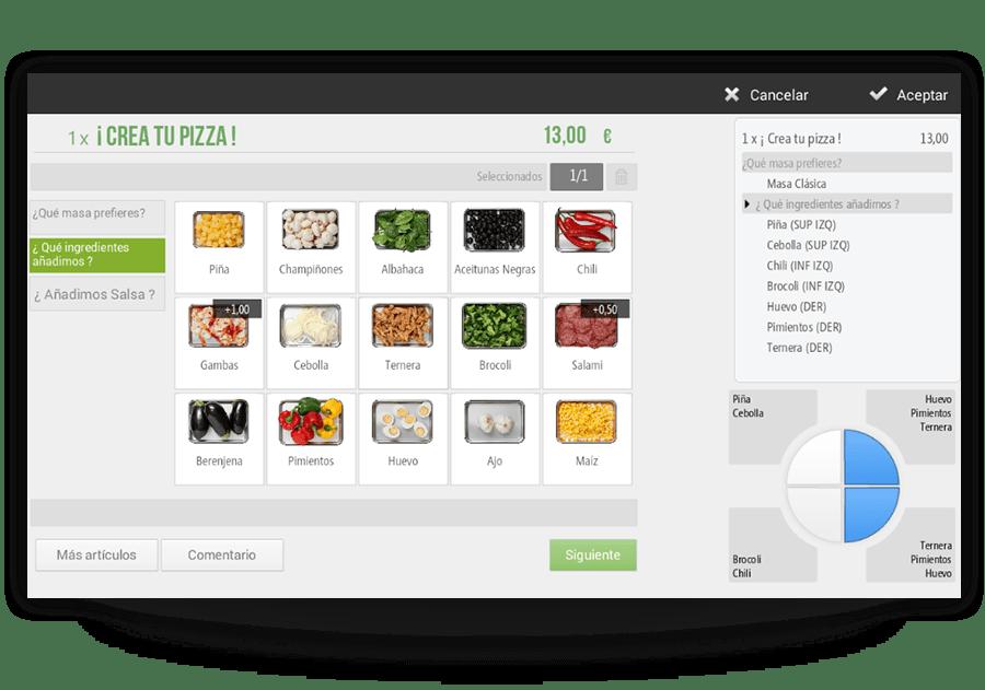 Configurar productos por raciones para restaurante