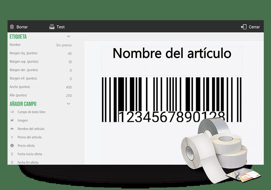 personaliza etiquetas desde tu software de gestión HIOPOS. Soluciones escalables HIOPOS